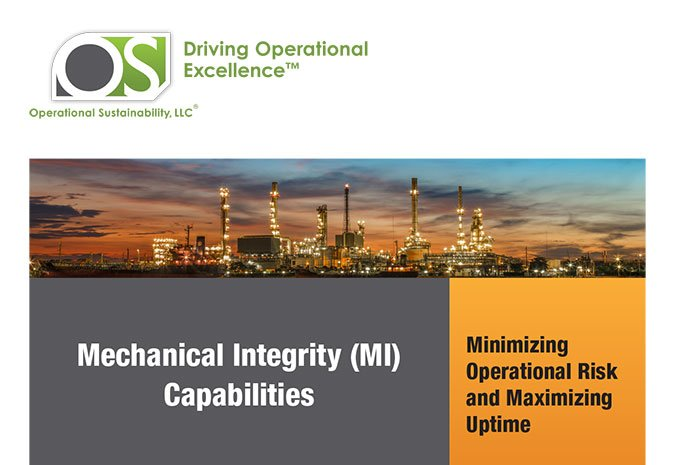 White Paper: Mechanical Integrity (MI) Capabilities – Minimizing Operational Risk and Maximizing Uptime